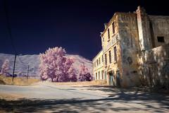 Reality and Fantasy (jrseikaly) Tags: road street pink lebanon mountain building nature architecture jack photography high dynamic scene fantasy infrared reality mon range hdr cedars repos seikaly jrseikaly