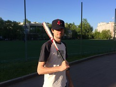 New baseball season (Andrew Goldman) Tags: red summer sky people sun man game love me smile field grass playground boston clouds real fun amazing play baseball time awesome sox great bat sunny best player enjoy he lov iphone selfie playgame andrewgoldman