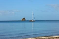 Calm Ocean Daze (Psychic Insights) Tags: blue sea summer sky beach boats waves outdoor oceans bays