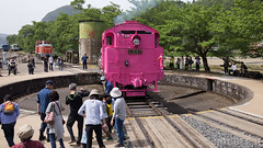 Pink SL at Wakasa Railway (32) (double-h) Tags: sl tottori jnr steamlocomotive c12   eos6d    railwayturntable ef2470mmf4lisusm  pinksl wakasarailway  c12 c12167 wakasastation classc12 c12 sl