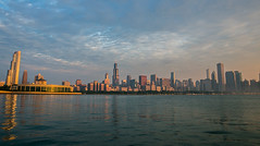 LUC Summer (Loyola University Chicago) Tags: chicago skyline landscape sunrise lakemichigan livealongthelake downtown il wtc