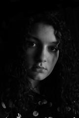 My portrait (ILARIA GENOVESE) Tags: ilaria blakandwhite bw face myfaces me portrait photo penumbra black white