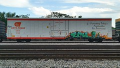 ICHABOD (BLACK VOMIT) Tags: car train skull graffiti ct yme refrigerator ich freight reefer ichabod circlet crytrans