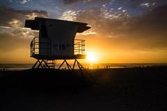 Sunset on Mission Beach (eking86) Tags: ocean california travel light sun beach sandiego dusk lifeguard