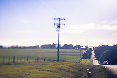 Country side 2 (daniellih) Tags: road light sun sunlight nature june landscape island countryside outdoor country australia melbourne victoria pole electricity phillipisland phillip utilitypole electricwire 2016 canonbody nikonlens freelens freelensing daniellih
