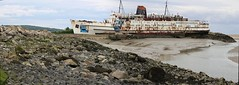 Duke of Lancaster (Lazenby43) Tags: panorama abandoned beach ship rusty riverdee northwales explored