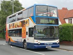 Stagecoach Dennis Trident 17616 V616DJA - Heald Green (dwb transport photos) Tags: bus alexander dennis stagecoach trident decker alx400 healdgreen 17616 v616dja