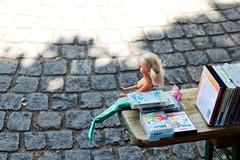 Mermaid (Gulius Caesar) Tags: canon munich toys eos rebel market barbie mermaid flea glockenbach t2i glockenbachfest