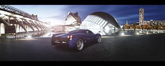 Pagani Huayra (Thomas_982) Tags: gt5 gt6 cars pagani huayra spain valencia night city italy ps3 blue gran turismo hypercar auto panorama