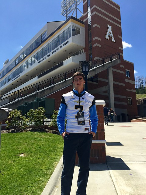 Appalachian State has VA 2016 QB Chase Mummau on campus for Junior-VIP Day on May 2, 2015.