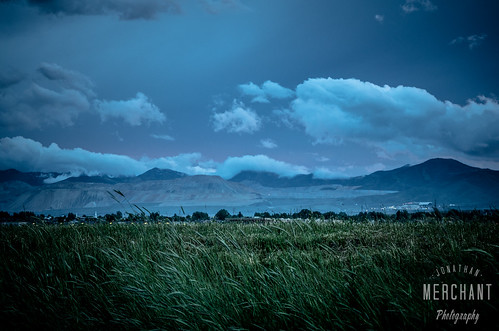 Stormy blue evening