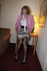 new63853-IMG_1137t (Misscherieamor) Tags: tv sitting feminine cd motel tgirl transgender mature sissy tranny transvestite crossdress ts gurl tg travestis travesti travestie m2f suedejacket xdresser tgurl slipshowing silkblouse bowblouse