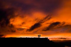 On The Rocks (charhedman) Tags: california light sunset people silhouette clouds rocks