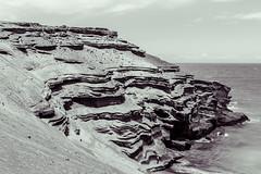 Layers (nclcocco) Tags: ocean light blackandwhite cliff usa monochrome canon hawaii rocks shadows july hi bigisland 2014 pacificislands hawaiiisland papakoleagreensandbeach 5dmkiii canon5dmarkiii 5dmarkiii nclcocco nicolacocco