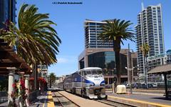 Amtrak 461( EMD F59PHI ) (vsoe) Tags: california railroad usa beach strand america train sandiego engine eisenbahn railway amtrak coastline amerika bahn kalifornien lok zge surfliner emd lokomotion