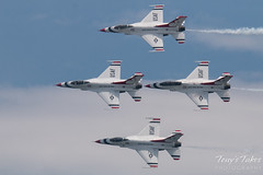 Air Force Thunderbirds four ship pass