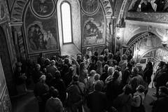 Holy Crowd (marco_palmieri) Tags: people blackandwhite italy church canon painting italia tour tourist chiesa monastery lesson gita canonef1740mmf4lusm biancoenero monastero lazio turisti affresco subiaco religione giude canoneos7d