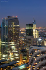 La Défense (Julianoz Photographies) Tags: city paris france building architecture buildings reflections europe cityscape bluehour bâtiment 92 ville ladéfense banlieue immeubles vueaerienne majunga régionparisienne paysageurbain quartierdesaffaires hautdeseine villelumière businessquarter tourfirst nikkor70200f4vr nikond610 districtquarter julianozphotographies