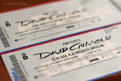 Lucky me! (Grzesiek.) Tags: ticket pinkfloyd wroclaw wrocaw davidgilmour bilet