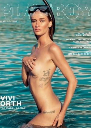 """""""Playboy"""" divulga capa com modelo Vivi Orth"""
