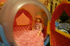Escape... (Primrose Princess) Tags: pink tiara castles coach doll carriage princess queen dreams wishes imagination crown cinderella wonderland dreamland takara licca fairytales fairygodmother dreamsdocometrue