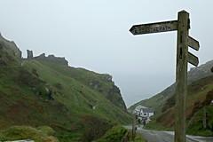 Tintagel Castle (2) (Blue Pelican) Tags: castle lumix ruins cornwall signpost tintagel englishheritage tz100