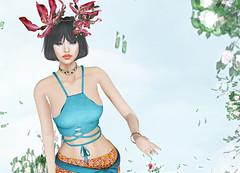 Prism - Lindy Boho Batik Skirt and Top (Rehana MiSS SLVietnam, Face of CHOP ZUEY 2015) Tags: fashion prism secondlife laboheme rehana lode penumbra anga slink chopzuey amitomo rehanaseljan