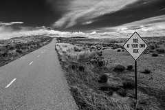 (el zopilote) Tags: bw signs newmexico blancoynegro clouds canon landscape eos blackwhite noiretblanc albuquerque nb bn roads fullframe digitalbw westmesa canonef24105mmf4lisusm 5dmarkii bndigital