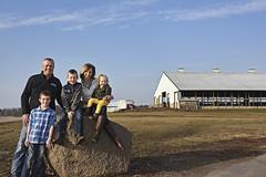 Kurt and Anna Duxbury, with their children Luke, Noah and Kate (CHS Inc) Tags: farming coop farmer rancher chs ranching cooperative chsincagriculture