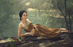 Thai traditional costume (Bugphai ;-)) Tags: portrait people woman flower nature girl beautiful face fashion female rural asian thailand happy golden dance costume nice colorful cambodia pretty respect outdoor folk buddhist rustic formal silk culture lifestyle jewelry vietnam ornament fabric single thai attractive myanmar tradition cloth charming elegant cheerful laos greeting tender polite accessory aec enchantress