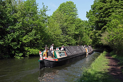 'President' + 'Kildare' Thelwall 12th May 2016 (John Eyres) Tags: canal warrington with president bridgewater kildare