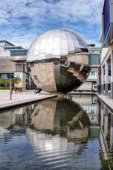 Planetarium (AshTree25) Tags: water reflections bristol planetarium mirrorball millenniumsquare