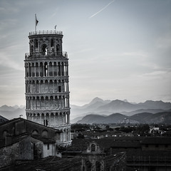 Leaning Pisa (chriswalts) Tags: travel sunset italy streets tower night pisa leaning