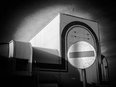 No Entry (Neil Johansson LRPS) Tags: uk light urban blackandwhite white black building monochrome wales architecture dark photography photo noir fuji cymru photograph fujifilm rhyl x20 urbanphotography northwales denbighshire yrhyl fujifilmx20 urbanwales