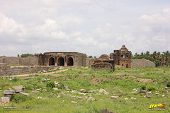 Remnants of Vijayanagara courtly structures in Dannayaka's Enclosure, Hampi (Trayaan) Tags: travel india monument worldheritagesite historical karnataka hampi vijayanagar incredibleindia vijayanagara vijayanagarastyle indianhistoricalarchitecture karnataempire vijayanagaratemplearchitecture vijayanagaratemplearchitectur