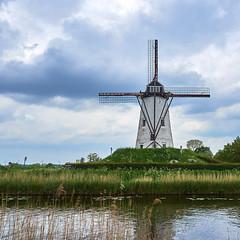 the Damme windmill (wellingtonandsqueak) Tags: windmill canal belgium c1 damme