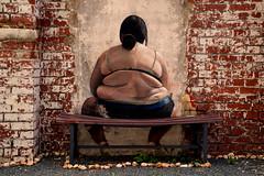 fat woman (tpeisker) Tags: frau graffity bank