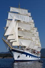 Royal Clipper Under Sail IMG_4493 (SunCat) Tags: royalclipper goldenhorn barenecessities cruise travel vacation europe 2016 all canon powershot g3x nude naturist naturists poros greece tallship