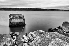 We never consummated our outside love affair (OR_U) Tags: longexposure blackandwhite bw pier blackwhite iceland decay le fjord oru blondie derelict westfjords 2016