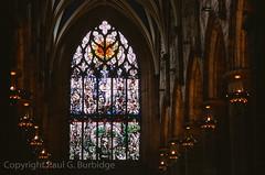 ScotlandJuneJuly2016-98940011 (Paul Burbidge) Tags: film united kingdom provia100 nikon fm2n scotland church holy rude windows stained glass