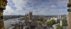 A view of the Victoria Tower and the House of Lords from the top of the ElizabethTower (Tbant) Tags: victoria tower elizabethtower big ben parliament archives stone benjamin thames river london uk britain estate panorama phaseone iq180 80mm