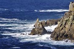Rocks and waves (Sundornvic) Tags: cornwall kernow cliffs rock stone granite sea water waves foam spray weathering landsend
