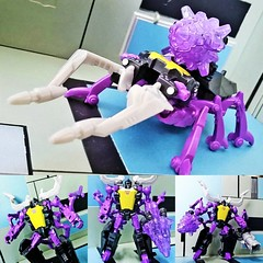 #shrapnel #insecticons #transformers #decepticons #generations #purple #stag #beetle #insect #reflector #camera  #instatoys #actionfigure #toysrus #toystagram #toyphotography #toypic #collage #plasticcrack #toys #photo #toycollector #toycollection #geek # (Geek75sg) Tags: instagramapp square squareformat iphoneography uploaded:by=instagram shrapnel insecticons transformers decepticons generations purple stagbeetle insect reflector camera