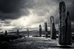 Orkney stone circle (diamir8000) Tags: orkney scotland north island stone circle brodgar ring neolithic geotagged travel dark sinister cloudy storm