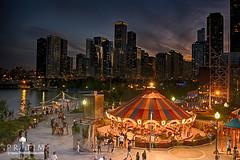 Chicago @ dawn - Party mood (Pr@tim - Trying something new :)) Tags: chicago skyline pratim pratimbiswas lake michigan city skyscrapper highraise