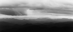 Dramatic Smoky Mountains Sunset Panorama from The Blue Ridge Parkway (sidsata) Tags: sun 70200mm f28 vrii nikon d750 smoky mountains silhouette contrast dusk clouds weather sunbeams blueridge nikon70200mmf28vrii blueridgeparkway smokymountains layers lightroom
