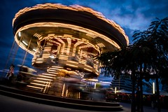 Blue Hour Carrousel (NathalieSt) Tags: europe france hrault lagrandemotte languedocroussillon carrousel light lights lumiere lumieres lumire lumires mange night nikon nikond5500 nikonpassion nikonphotography nuit languedocroussillonmidipyrn languedocroussillonmidipyrnes fr
