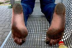 dirty city feet 119 (dirtyfeet6811) Tags: feet soles barefoot dirtyfeet dirtysoles blacksoles cityfeet