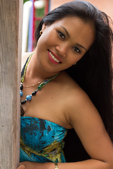 Filipina Beauty (Richard Craig Smart) Tags: red woman black sexy beautiful beauty face smiling lady hair eyes long pretty lips attractive friendly sultry filipina