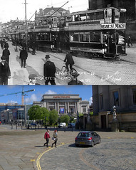 William Brown Street, 1911 and 2015 (Keithjones84) Tags: liverpool oldliverpool merseyside thenandnow rephotography